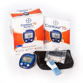 Глюкометр CONTOUR TS Bayer + Рюкзак
